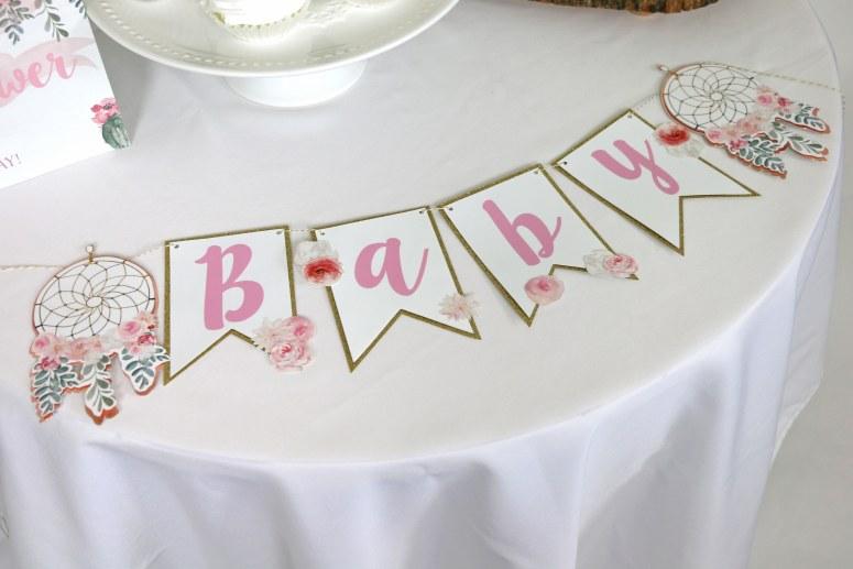 Dream Catcher Baby Banner