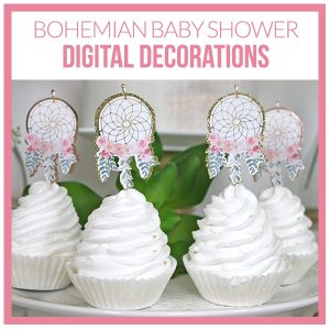 Bohemian Baby Shower Decorations