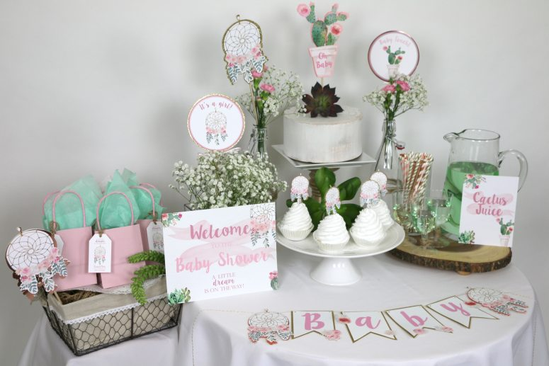 Bohemian Baby Shower Printable Decorations