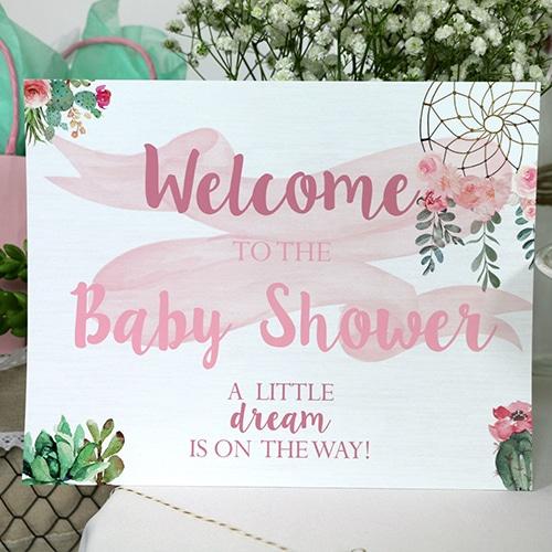 Dream Catcher Shower Welcome Sign