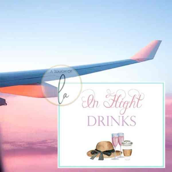 In Flight Drinks Sign