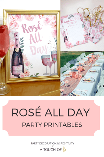 Rosé All Day Party Printables