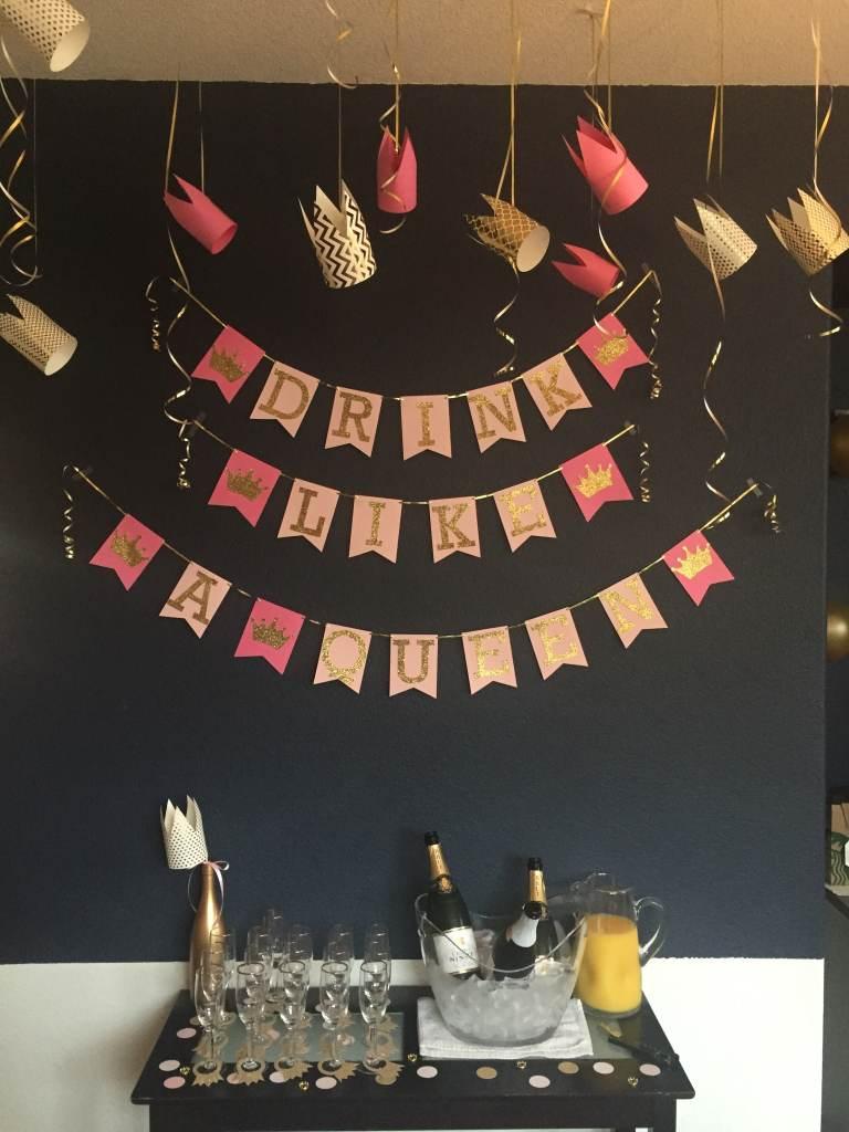 Mimosa bar at a Royal Baby Shower
