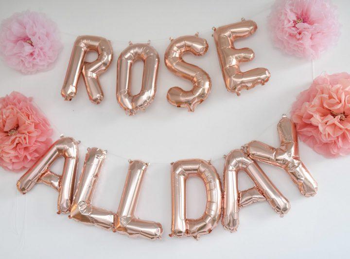 Rosé All Day Balloon Wall