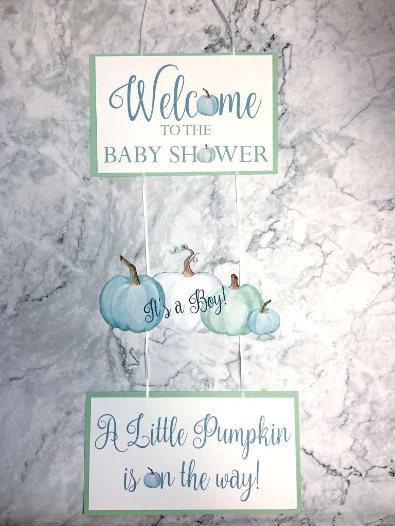 Little Pumpkin Baby Shower Ideas: Welcome Sign