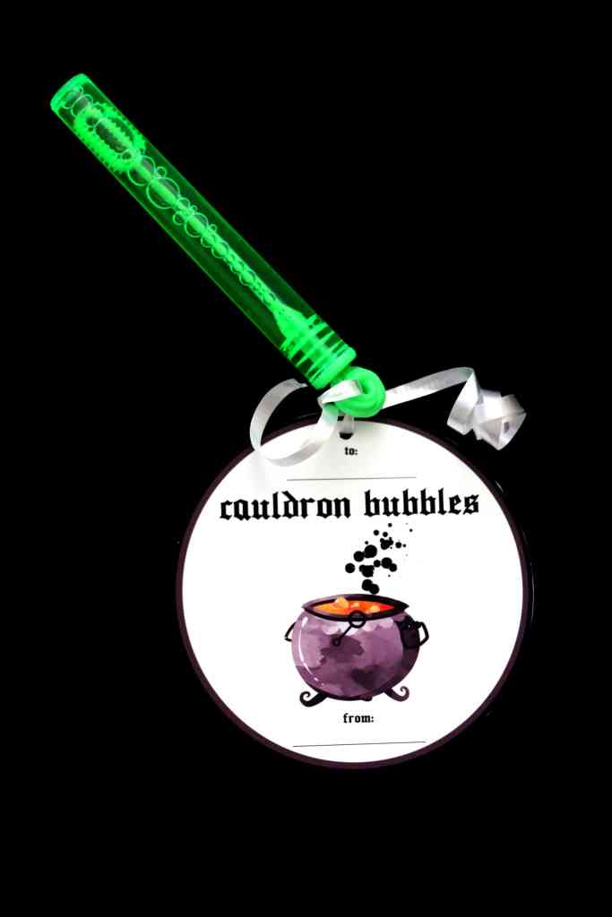 Candy-free halloween gifts: Cauldron Bubbles