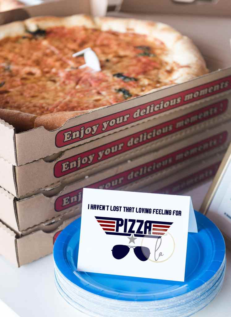 Top Gun Party Food Signs