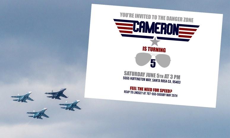 Top Gun Party Invitation
