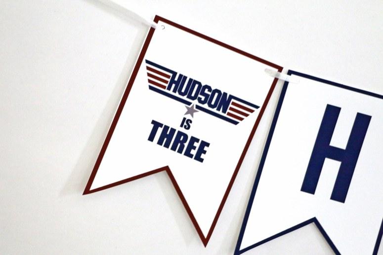 Top Gun Birthday Party Ideas: Top Gun Birthday Banner