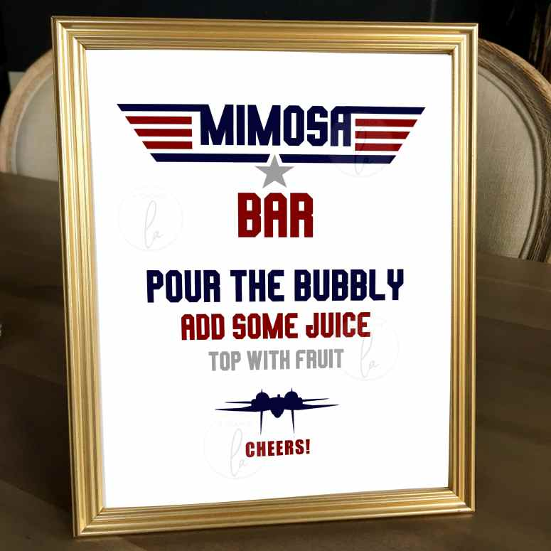 Top Gun Mimosa Bar Sisgn