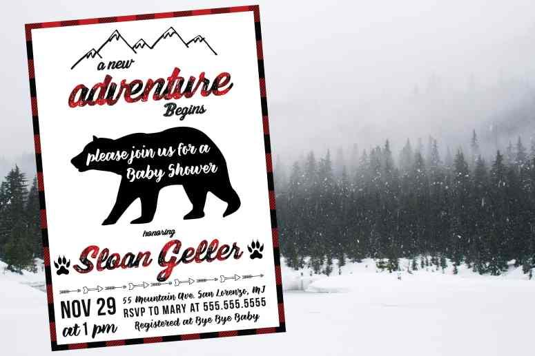 Buffalo Plaid Baby Shower Decor - The best winter baby shower invitation