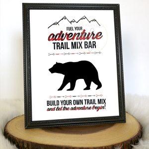 Buffalo Plaid Trail Mix Sign
