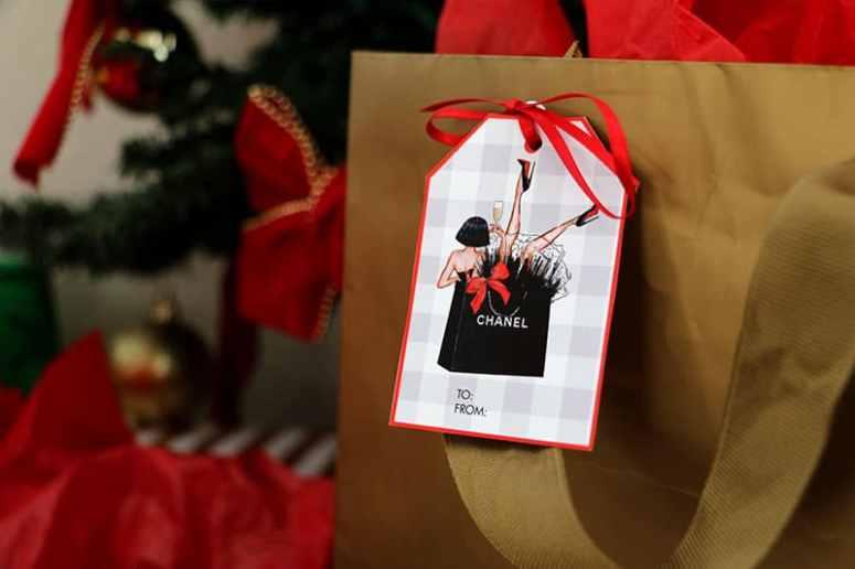 Chanel Christmas Gift Tag