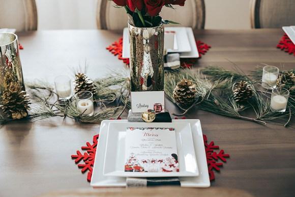 Christmas table setup