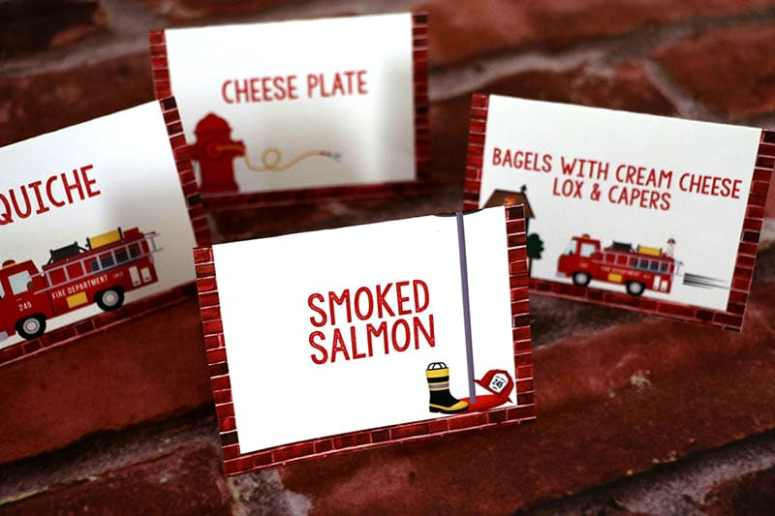 Firefighter Party Theme: Firefighter Birthday Party Food Tents