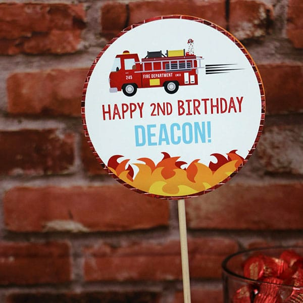 Firefighter Party Supplies: Custom Firefighter Party Decorations