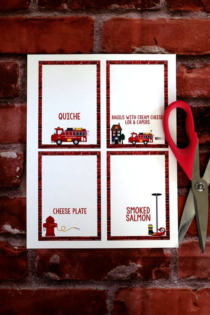 Firefighter Party Decorations: Firefighter Birthday Party Food Tents
