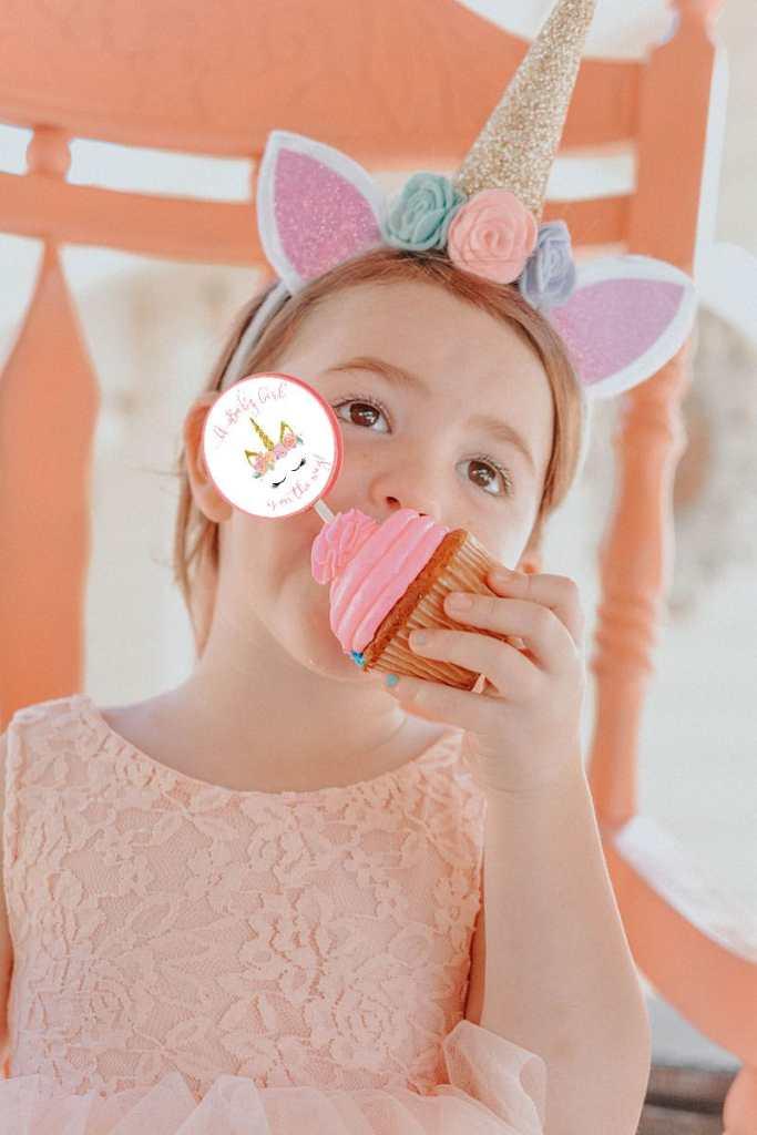 Unicorn Shower Cupcakes