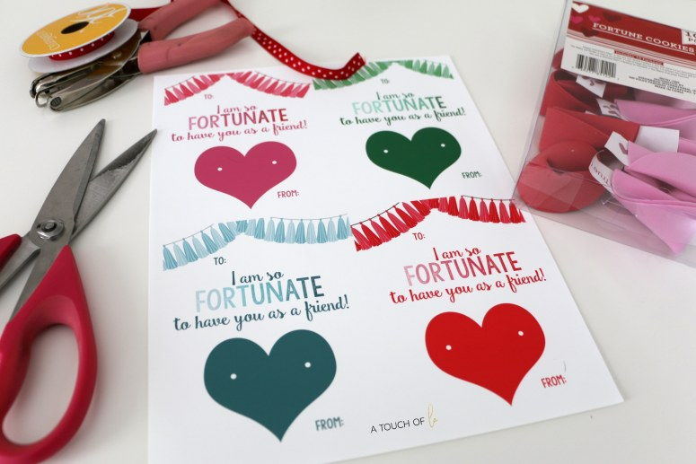 Printable Valentines: Fortune Cookies