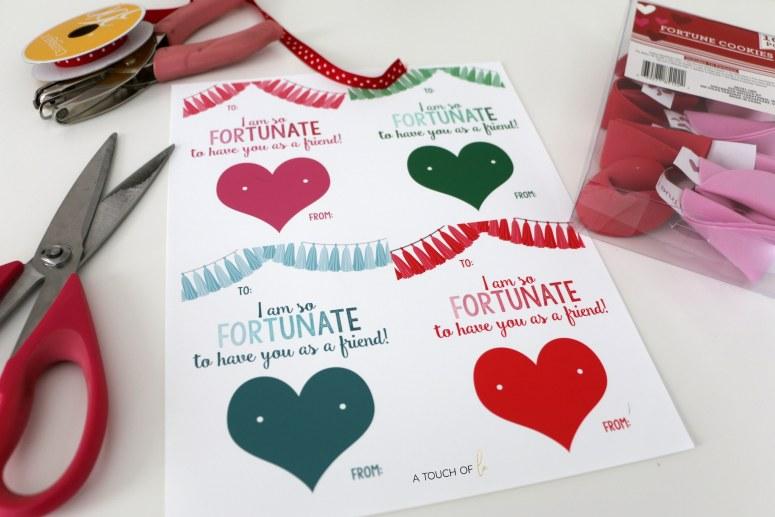 Printable Valentines: Fortune Cookies