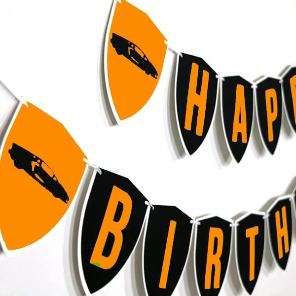 Orange Lamborghini Party Decorations