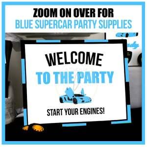 Blue Supercar Party Decorations