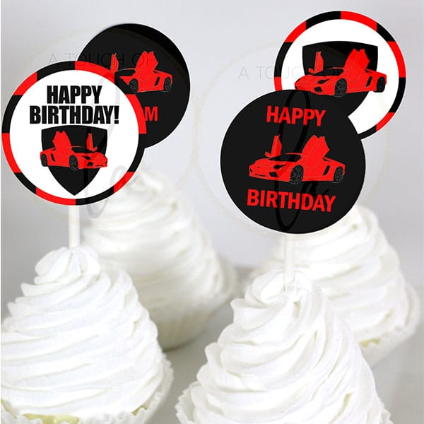 Red-Supercar-Party-Cupcake-Toppers
