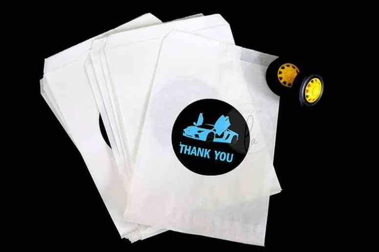 Blue-Thank-You-Stickers-for-Supercar-Party