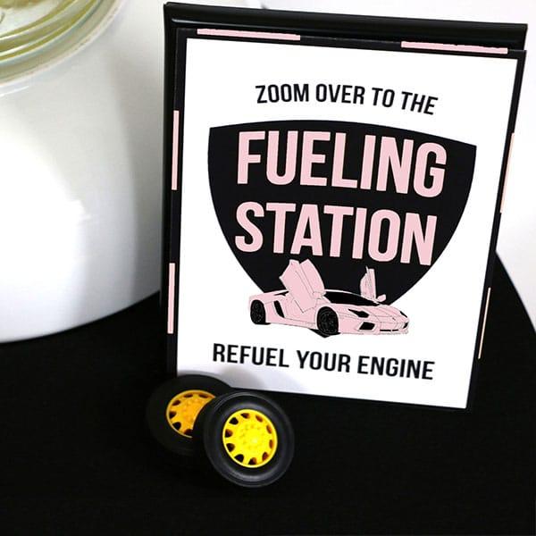Pink-Supercar-Fueling-Station-Sign