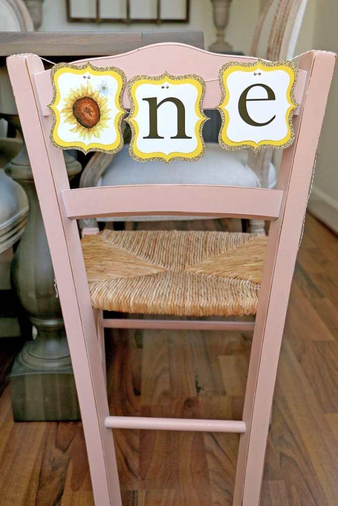 Sunflower High Chair Banner