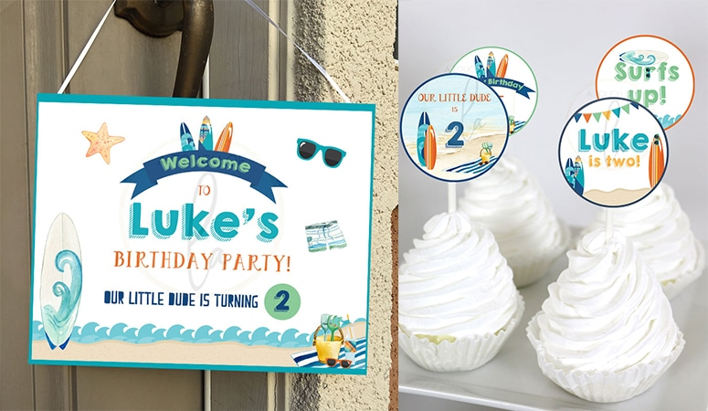 Surf Party Supplies For Your Little Dude