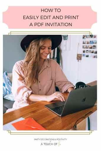 Edit and Print a PDF Invitation