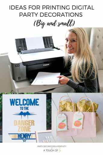 Ideas for Printing Digital Party Decorations (Big and small): The Best Printer for Digital Party Decorations