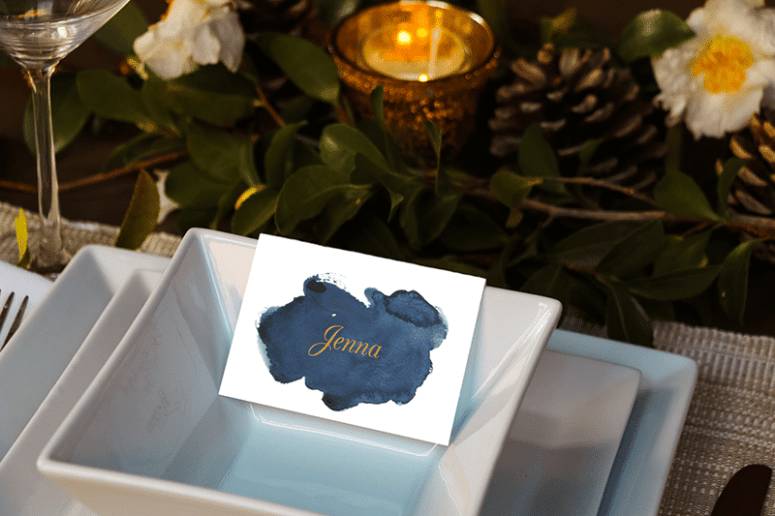 Watercolor Editable Placecards for Thanksgiving