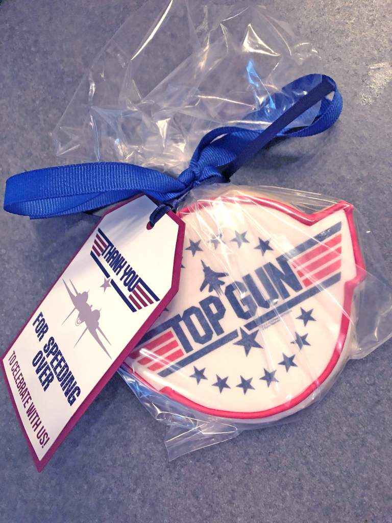 DIY Favor Tags for Top Gun Party