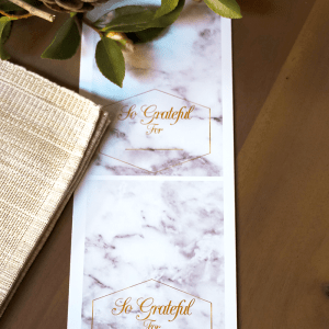 Marble Thanksgiving Placecards