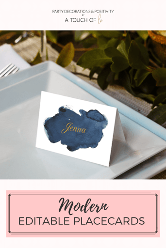 Editable Thanksgiving Placecards for  Mondern Tablescape