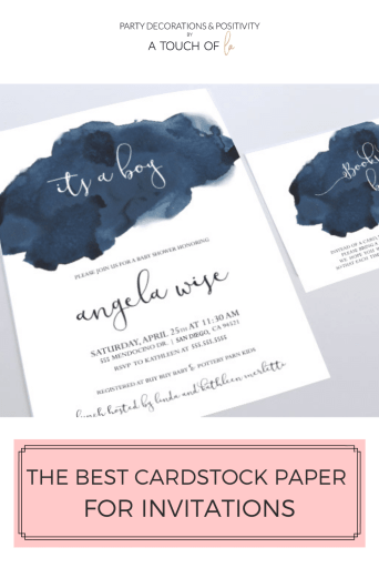 The Best Cardstock Paper for Invitations