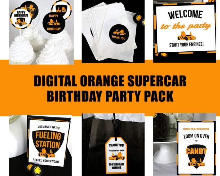 Orange-Supercar-Birthday-Party-Pack