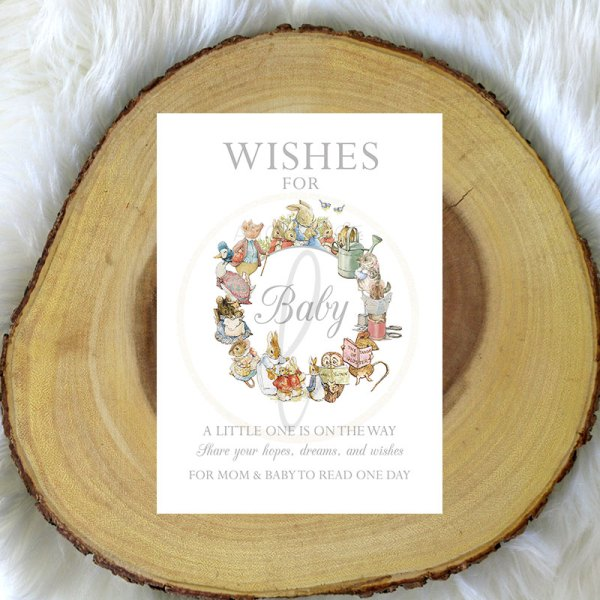 Grey-Peter-Rabbit-Wishes-For-Baby-Sign