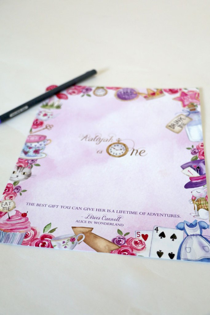 How to Decorate a Pink Alice In Wonderland Party Theme: Guest Book
