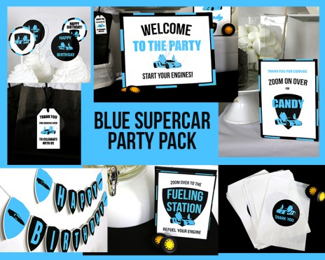 Blue Supercar-Birthday-Party-Pack