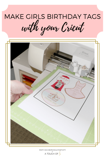 Make Girl's Birthday Tags with your Cricut