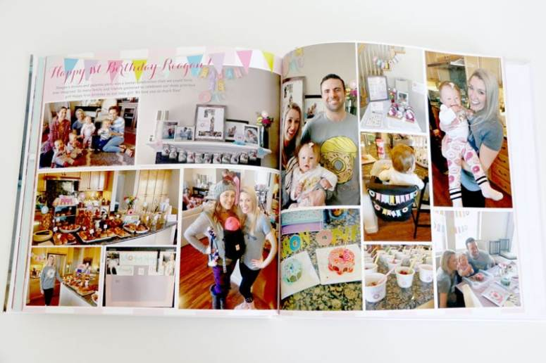 First Birthday in Baby Book