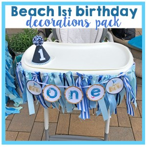 Beach 1st Birthday Party Decorations Pack