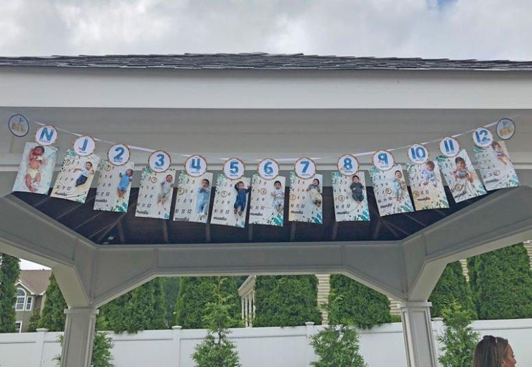 Beach Party First Birthday Photo Banner