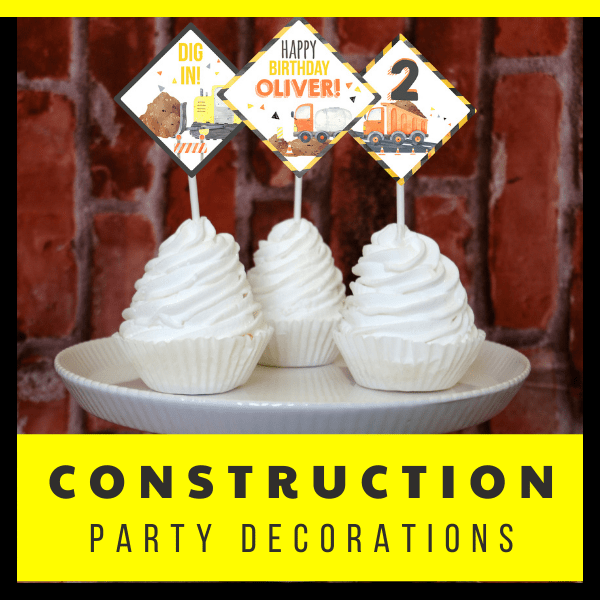 Construction Theme party Pack