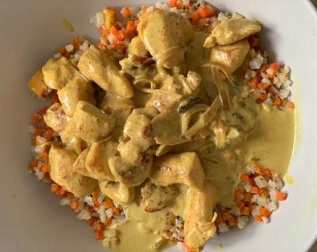 poulet coco curry minceur