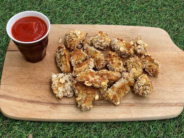 nuggets de poulet healthy aux flocons d'avoine