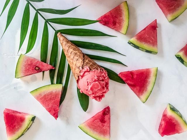 glace avec pastèque